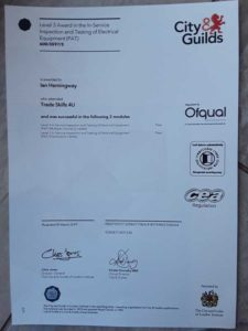 PAT Testing Winchester Certification