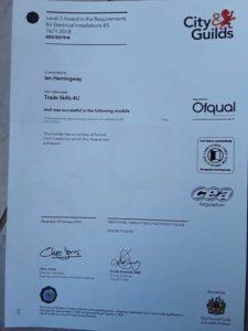 BS 7671-2018 certified